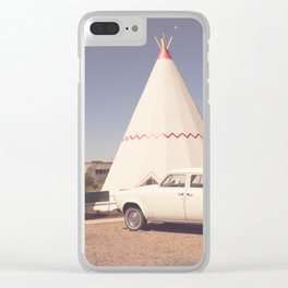 Sleep at the Wigwam Clear iPhone Case