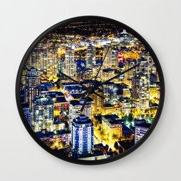 1560 Voyeuristic Vancouver Cityscape Golden Luminous Yaletown Vancouver Wall Clock