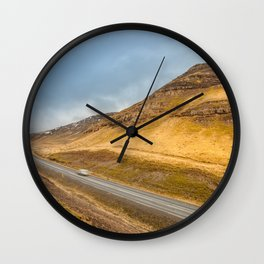 Iceland | Middle of nowhere Wall Clock