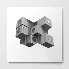 Architecture futur grey Metal Print