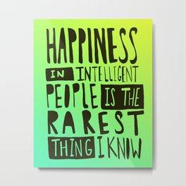 Hemingway: Happiness Metal Print
