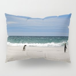 Penguins on the Beach Pillow Sham