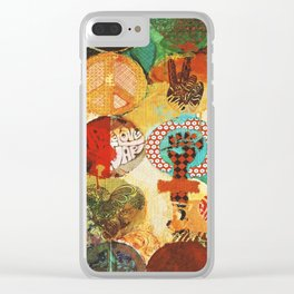 Peace, Love and Thinkin´ Clear iPhone Case