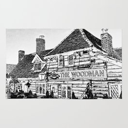 The Woodman Pub Art Rug
