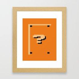 Minimalist Question Block Framed Art Print