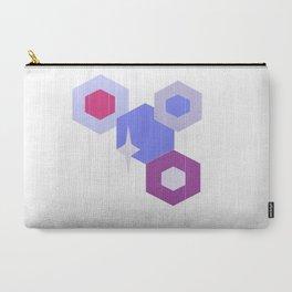Purple Geometrics Carry-All Pouch