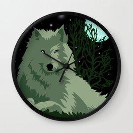 Wolf Vector Animals Wall Clock