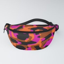 Pink/Orange/Brown pattern Fanny Pack