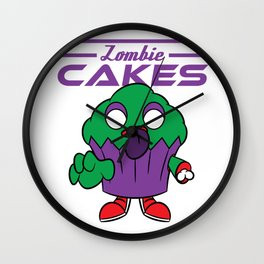 """Looking for a creepy yet delicious tee design? Here's a nice """"Zombie Cakes"""" tee for you!  Wall Clock"""
