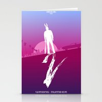 hotline miami Stationery Cards featuring Enjoy The Violence - Hotline Miami 2 Minimalist Poster by Marco Mottura - Mdk7