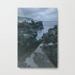 Ocean Lava Rocks Metal Print