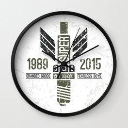 Military emblem racing club in retro style Wall Clock
