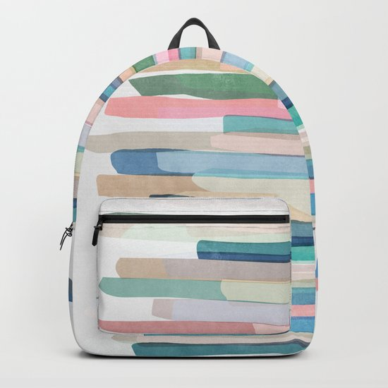 Pastel Stripes 1 Backpack