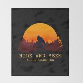 Bigfoot - Hide and Seek World Champion Throw Blanket