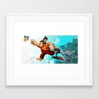 wreck it ralph Framed Art Prints featuring Wreck it Ralph by twistedCaliber