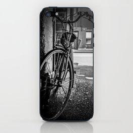 Black and White Bike iPhone Skin
