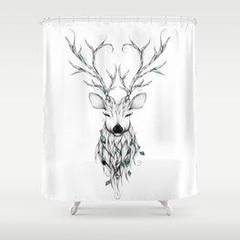 Poetic Deer Shower Curtain