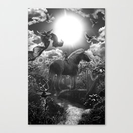 XIX. The Sun Tarot Card Illustration Canvas Print