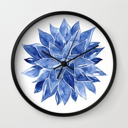 Succulent Watercolor Painting Wall Clock