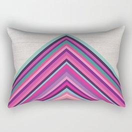 Wood and Bright Stripes, Chevron - Geometric Design Rectangular Pillow