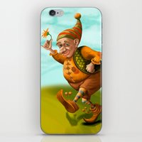 gnome iPhone & iPod Skins featuring Gnome by Olga Shefranov