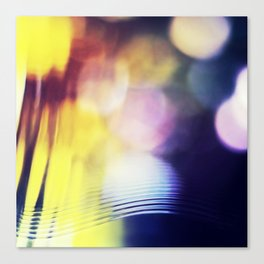 City lights - Abstract Photography Canvas Print