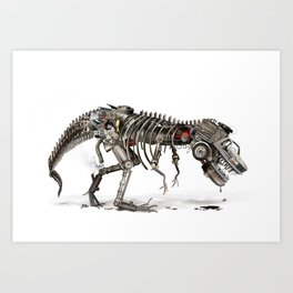 Mechanical T.Rex Art Print