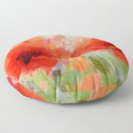 Mohnblumen Floor Pillow