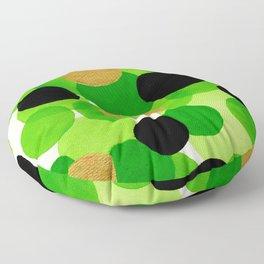 Lime Green Watercolor Bubbles Floor Pillow