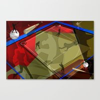 baseball Canvas Prints featuring Baseball by Robin Curtiss