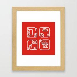 Mayan Glyphs ~ Hands Framed Art Print