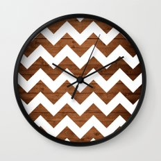 Chevron Wood Wall Clock