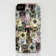 just cats retro Slim Case iPhone (4, 4s)