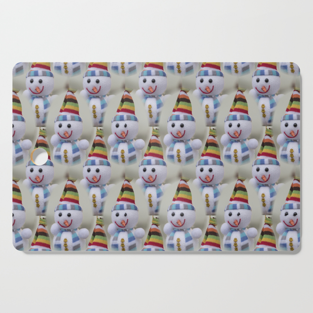Christmas Decorations Snowmen Cutting Board by spetenfia