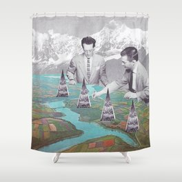 Architectes Shower Curtain