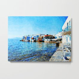 Little Venice at Mykonos Metal Print