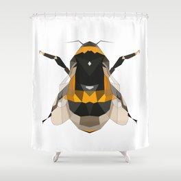 Bumble bee artwork Geomeric art Yellow and black Bee Midern design Shower Curtain