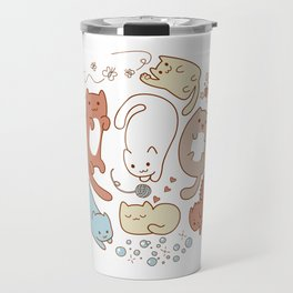 Seven cute cats. Travel Mug