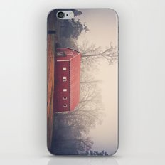 Little Red Barn in the Fog iPhone & iPod Skin