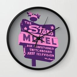 Seeing Stars ... Motel ... (Purple/Pink/Grey) Wall Clock