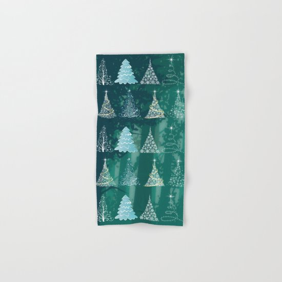 Christmas tree in the forest Hand & Bath Towel
