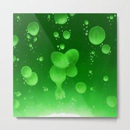 Lava Lamp Green Metal Print