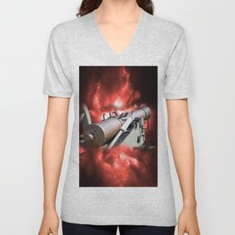 Cannon and bombing Unisex V-Neck