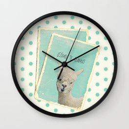 COMOTE LLAMA ? MINT Wall Clock