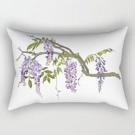 Cockatoos and Wisteria Rectangular Pillow