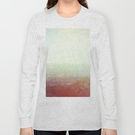 Abstract pastel mint green pink red summer nature landscape Long Sleeve T-shirt