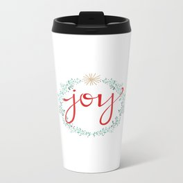 Holiday Joy Metal Travel Mug