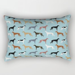 Greyhound Dog pet portrait dog lover must have gifts perfect christmas present for dog person Rectangular Pillow