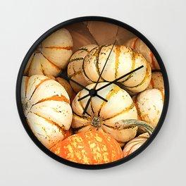 Happy Halloween Pumpkins Wall Clock