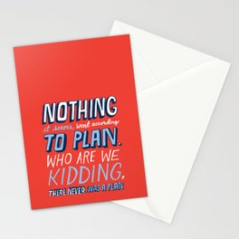 No Plan Stationery Cards
